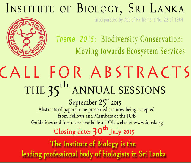IOB sessions 2015 Call for abstracts