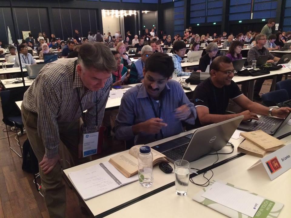 Jury Members translating paper