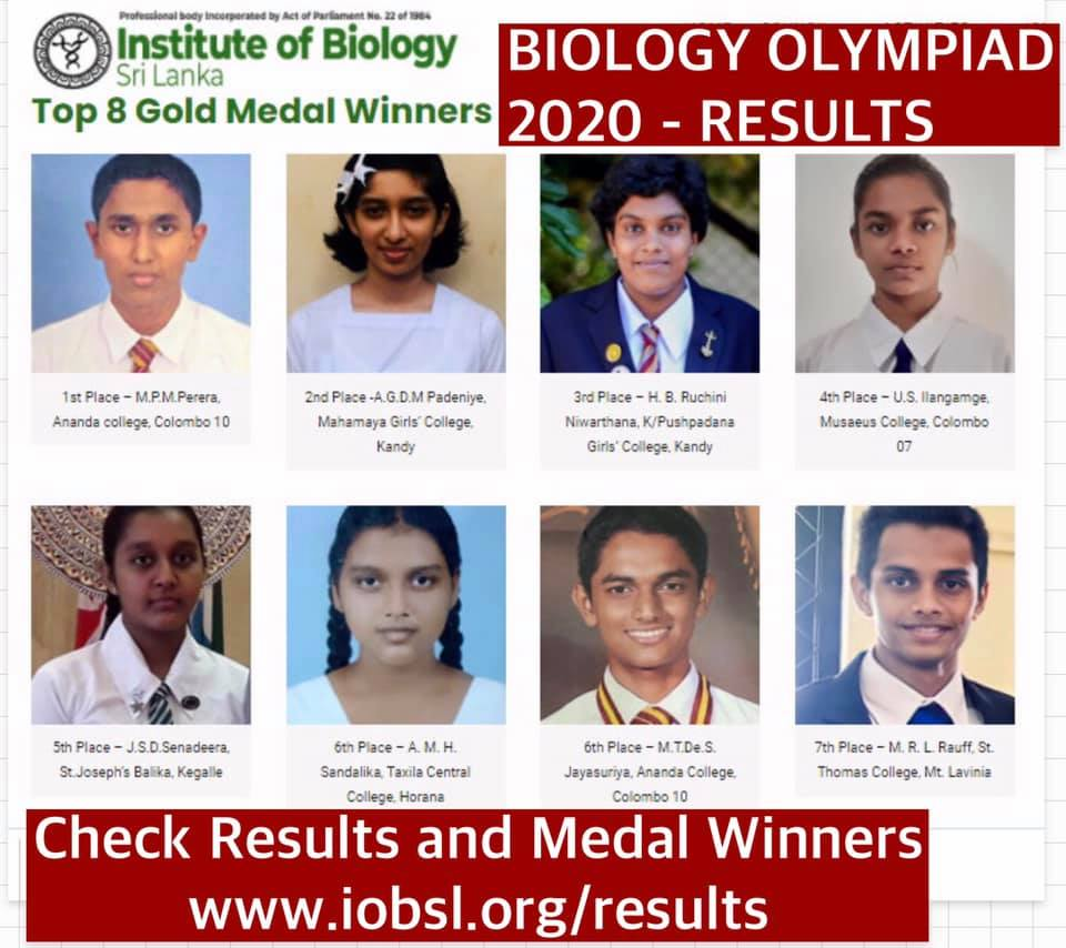Olympiad 2020 medal winners