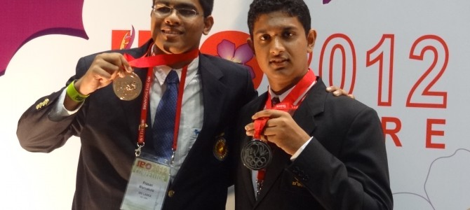 Silver and Bronze medalists at IBO 2012