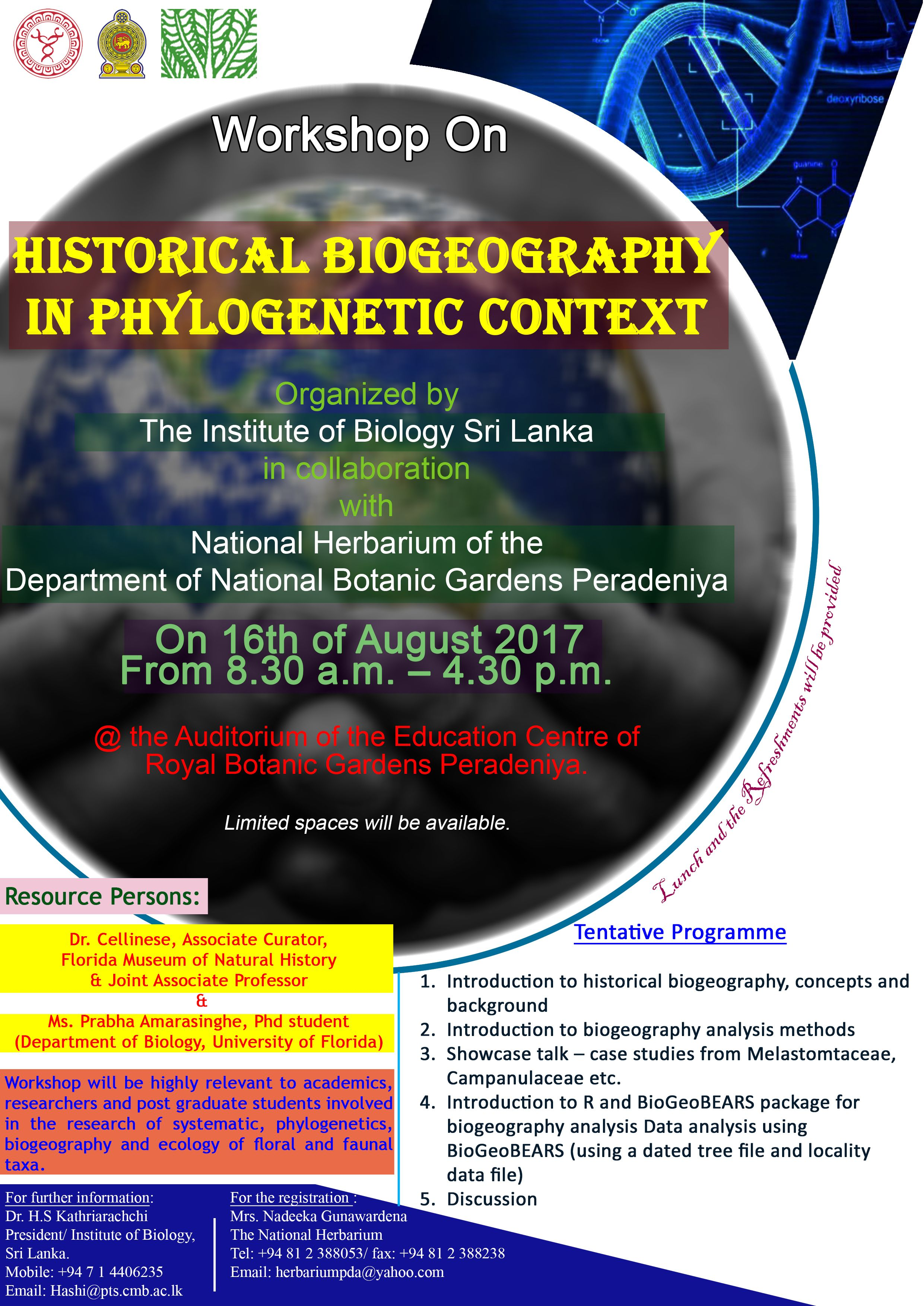 IOB_Biogeography Workshop_2017_Flyer